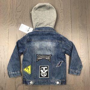 Other - NWT Metallica Kids Hoodie Denim Jean Jacket 2T